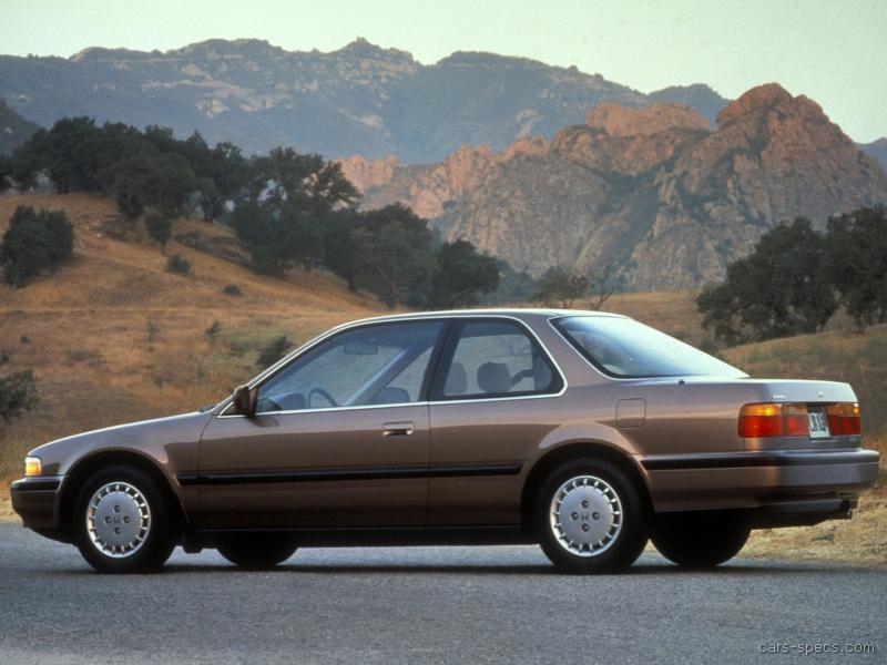1990 Honda Accord Coupe Specifications Pictures Prices
