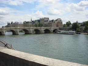 Conciergerie and the Palais de Justice.  Basically, the Ile de Cite