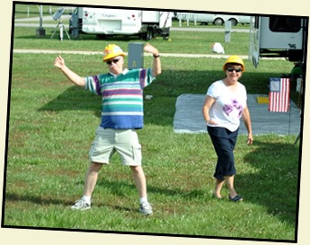 12b-  May 31 -Leaving the Rally - Walts and Tina in their hard hats