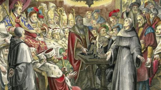 المواجهة الحميمية بين الإمبراطور كارل الخامس ومارتن لوثر (حدث إعلامي تاريخي عالمي)