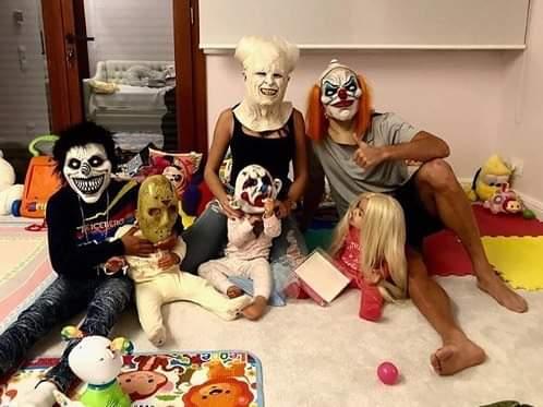 Halloween: La estampa más terrorífica de Cristiano Ronaldo con su familia