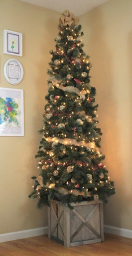 Christmas Tree On Reclaimed Wood Box