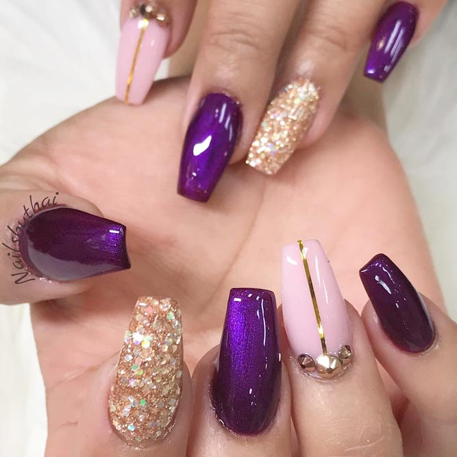 60 Trendy Ideas For Purple Nail Art Designs You Must Try Fashonails