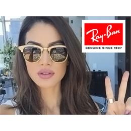 Óculos de Sol Ray Ban Clubmaster Aluminuim  Marrom- Frete Grátis- TPM de Ofertas