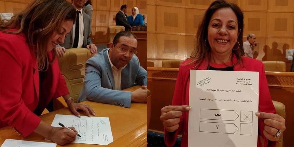 صوتت بسحب الثقة من الغنوشي : استقالة  نائب عن قلب تونس بعد تعرضها للتهديد