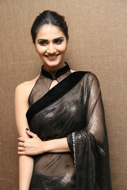 Actress Vaani Kapoor Latest Stills In Black Saree Actress Trend