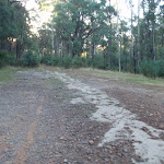 Road to camping area