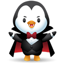 Pingüino Halloween - Drácula