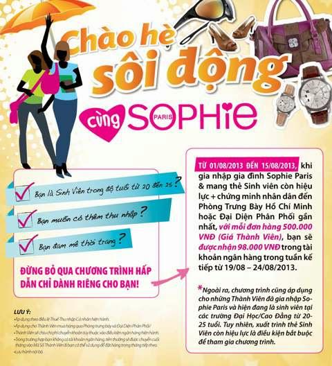 Chào hè sôi động cùng Sophie Paris
