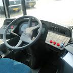 Het dashboard van de Mercedes Citaro van The family bus 494