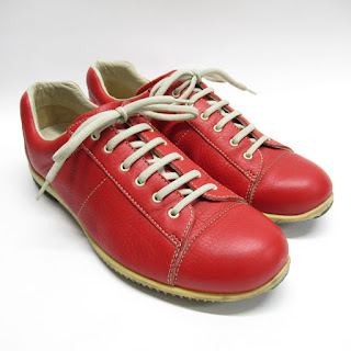 Prada Red Leather Sneakers