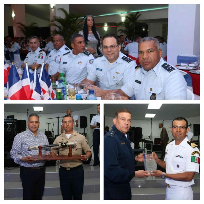 Comandancia General y Academia Fuerza Aérea brindan cena despedida a oficiales y cadetes mexicanos. También agasajan a las tropas de la institución que participaron en el desfile militar.