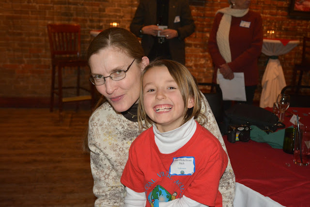 Our youngest volunteer and mom