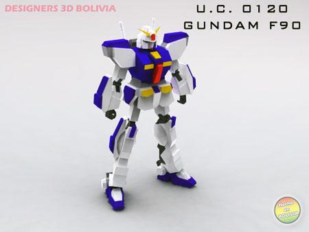 Gundam F90 Papercraft