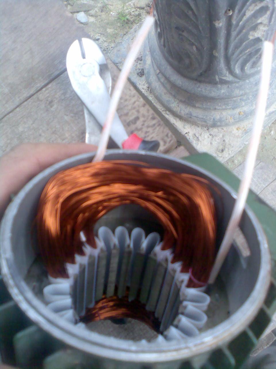 Teknik membuat Lilitan Pompa Air :