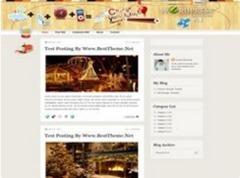 новогодний дизайн для blogger