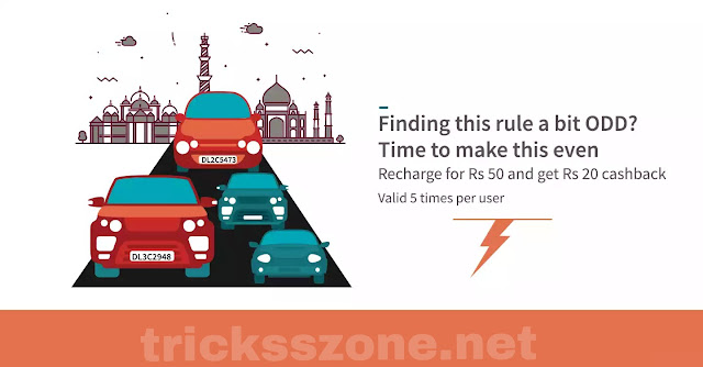 Get 20 cashback on recharge/ bill payment of 50 through freecharge (all users)