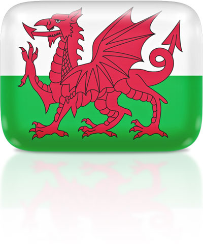 Welsh flag clipart rectangular