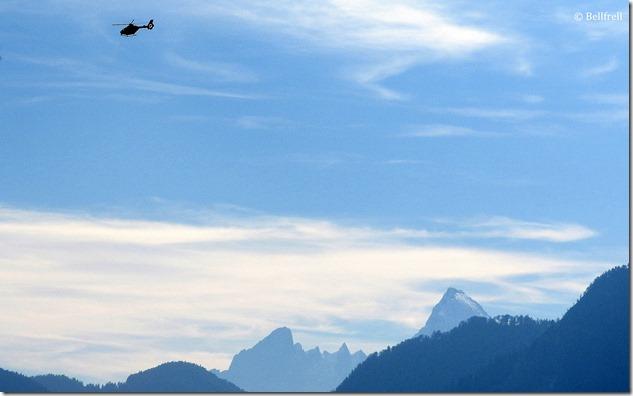 Watzmann mit Hubschrauber