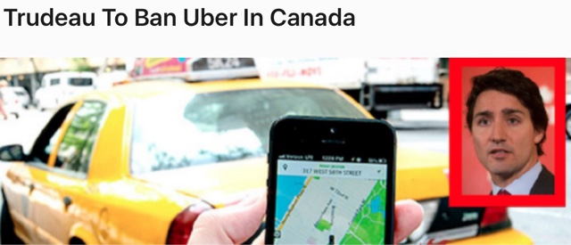 Taxi Leaks: Canadian PM Announces Bill To Ban Uber.