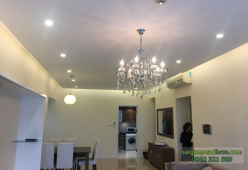 hệ thống đèn chiếu sáng đèn trần tuyệt đẹp của căn hộ saigonpearl