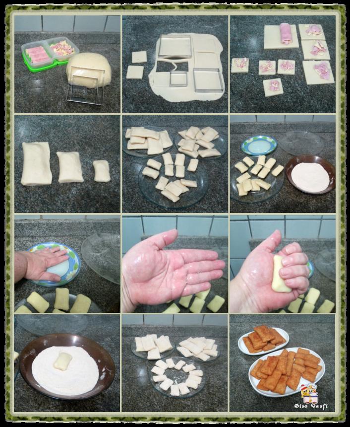 Rissoles de queijo e presunto 4
