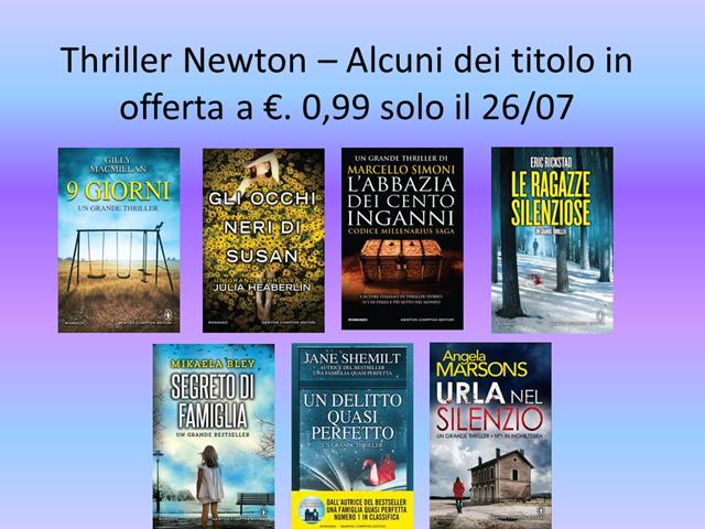 Thriller Newton – Alcuni dei titolo in offerta (2)
