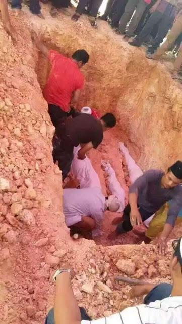 Jenazah 3 Beranak Kemalangan Dengan Lori Balak Selamat Dikebumikan