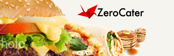 Line of food with Zerocater logo