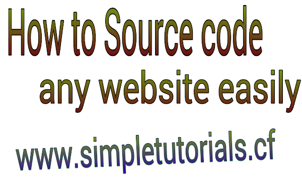 How to Source Code any Website Simple