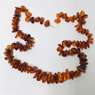 14K Gold and Amber Necklace