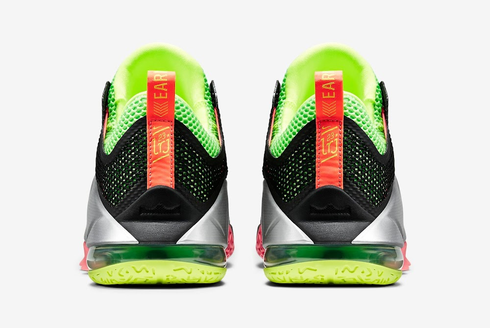 pretty nice 2257c ed79c ... LeBron 12 Low Black Silver Volt Hot Lava Official Release ...