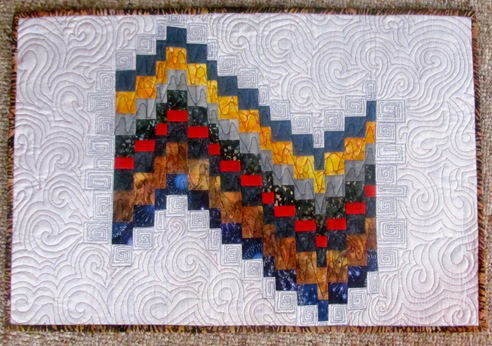 1512172 Dec 27 Finished Brown Tablerunner Bargello