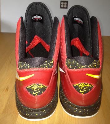 nike air max lebron 8 v2 miami heat pe 1 02 Nike Air Max LeBron 8 V/2 Miami Heat Player Exclusive