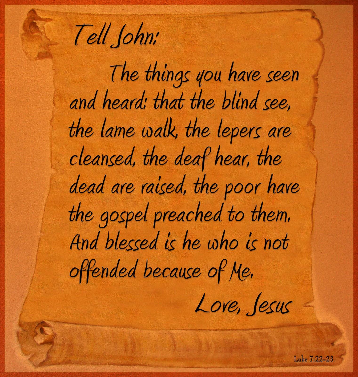 Kuvahaun tulos haulle Luke 7:23