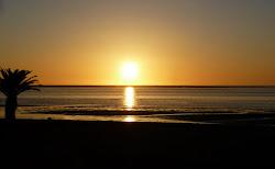 Coucher de soleil à Walvis bay