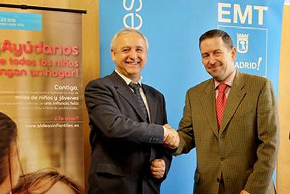 La EMT colaborará con Aldeas Infantiles SOS Infancia