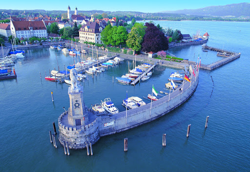 Lindau Harbor. From  Driving the Alpine Road in Germany