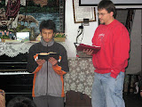 David reading scripture for Scott at the Home of God's Love