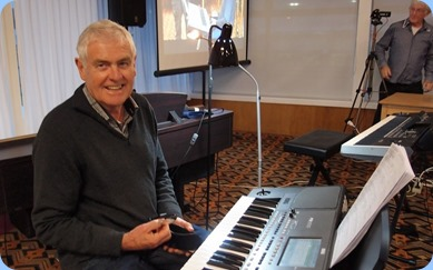 Peter Longbottom played his Korg Pa600. Photo courtesy of Dennis Lyons.