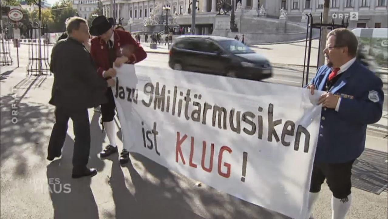 Parlamentssitzung zur Abschaffung der Militärmusik am 16.10.2014