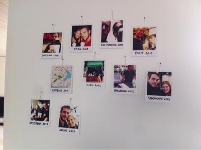 Starbucks polaroid feriebilleder