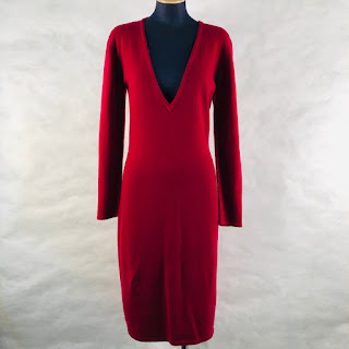 Calvin Klein Collection Raspberry Cashmere Sweater Dress