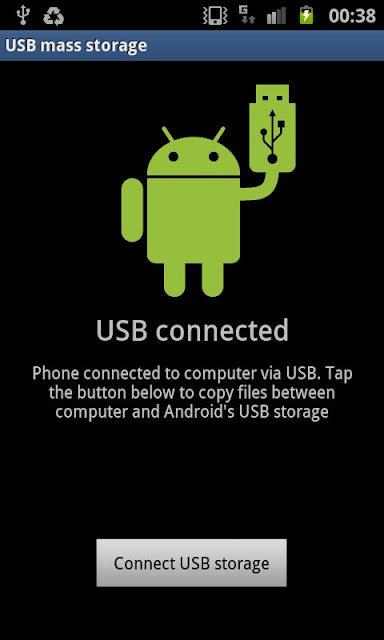 Samsung S2 connect USB Android