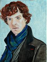 Benedict Cumberbatch Sherlock Portret