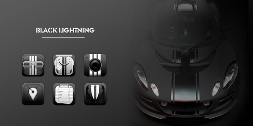 Black Lightning GO Launcher Screenshot