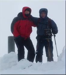 En la cima de San Lorenzo