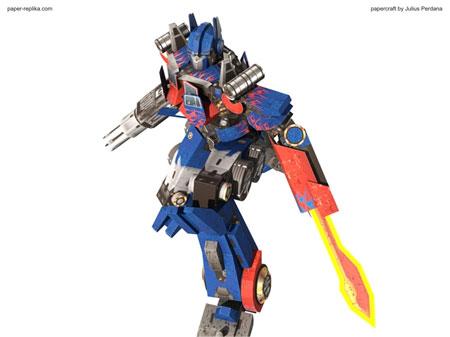 Transformers Paper Model Optimus Prime