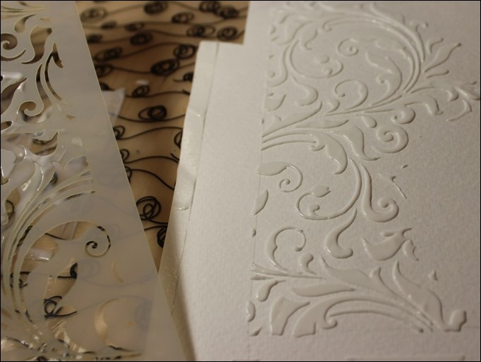 Embossing Paste Perfect Pearls Distress Ink Tim Holtz Stencil Stampin Up Love you Lots Frog Card 02
