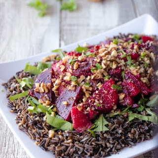 Roasted Beet Salad with Oranges and Wild Rice.